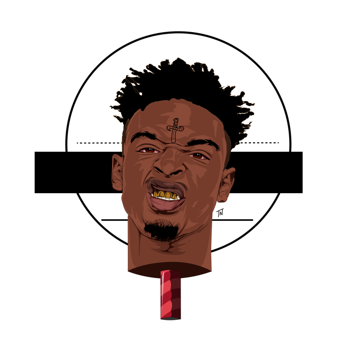 Image of 21 SAVAGE Print