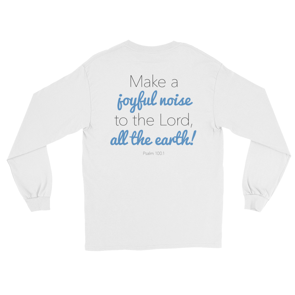 Image of EXT-Songs of Zion Psalm 100.1 Long-Sleeve Tee (Extended Sizes)