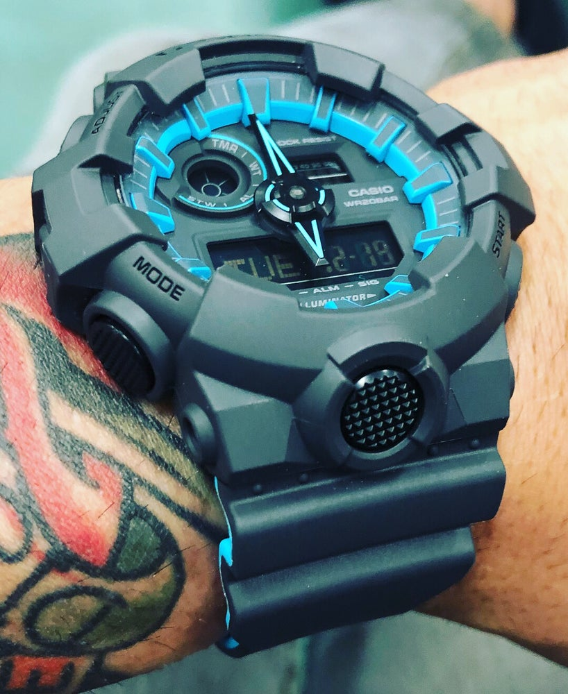 Image of GA-700 W/ Hyper Blue Accents