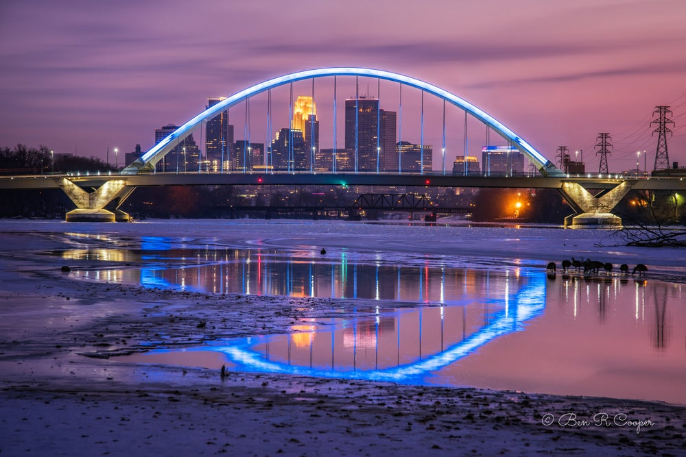 Image of Lowry Bridge in Winter