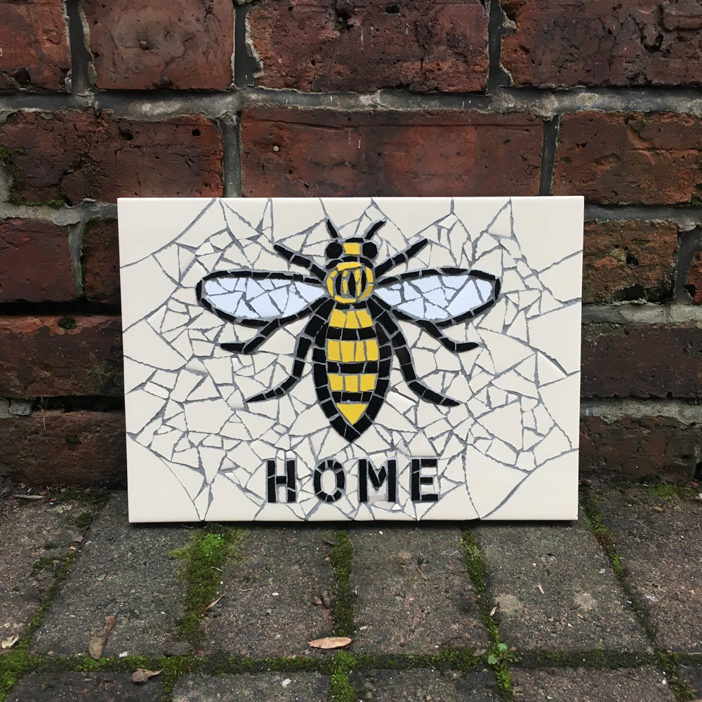 "Image of MANCHESTER WORKER BEE ""HOME"" Mosaic"