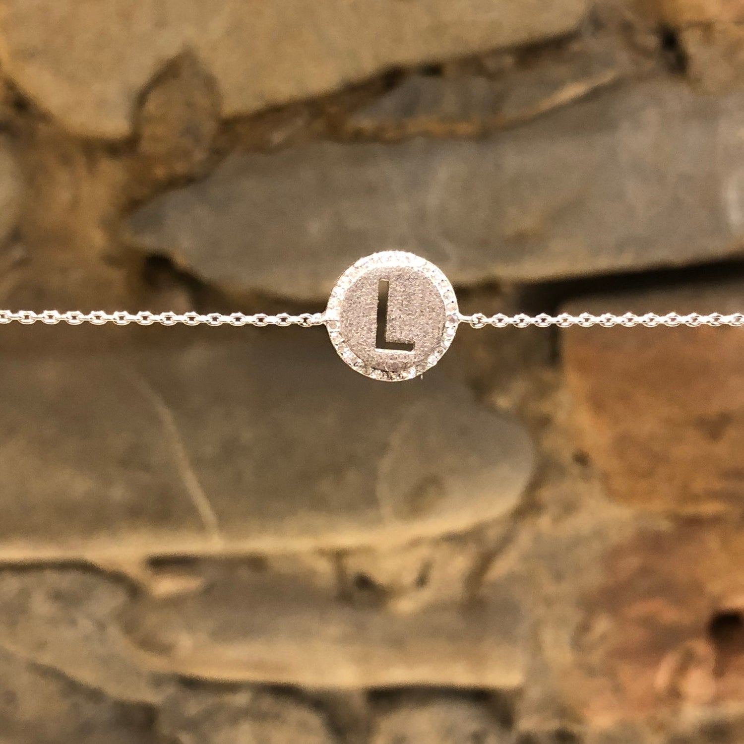 Image of GM Initial bracelet