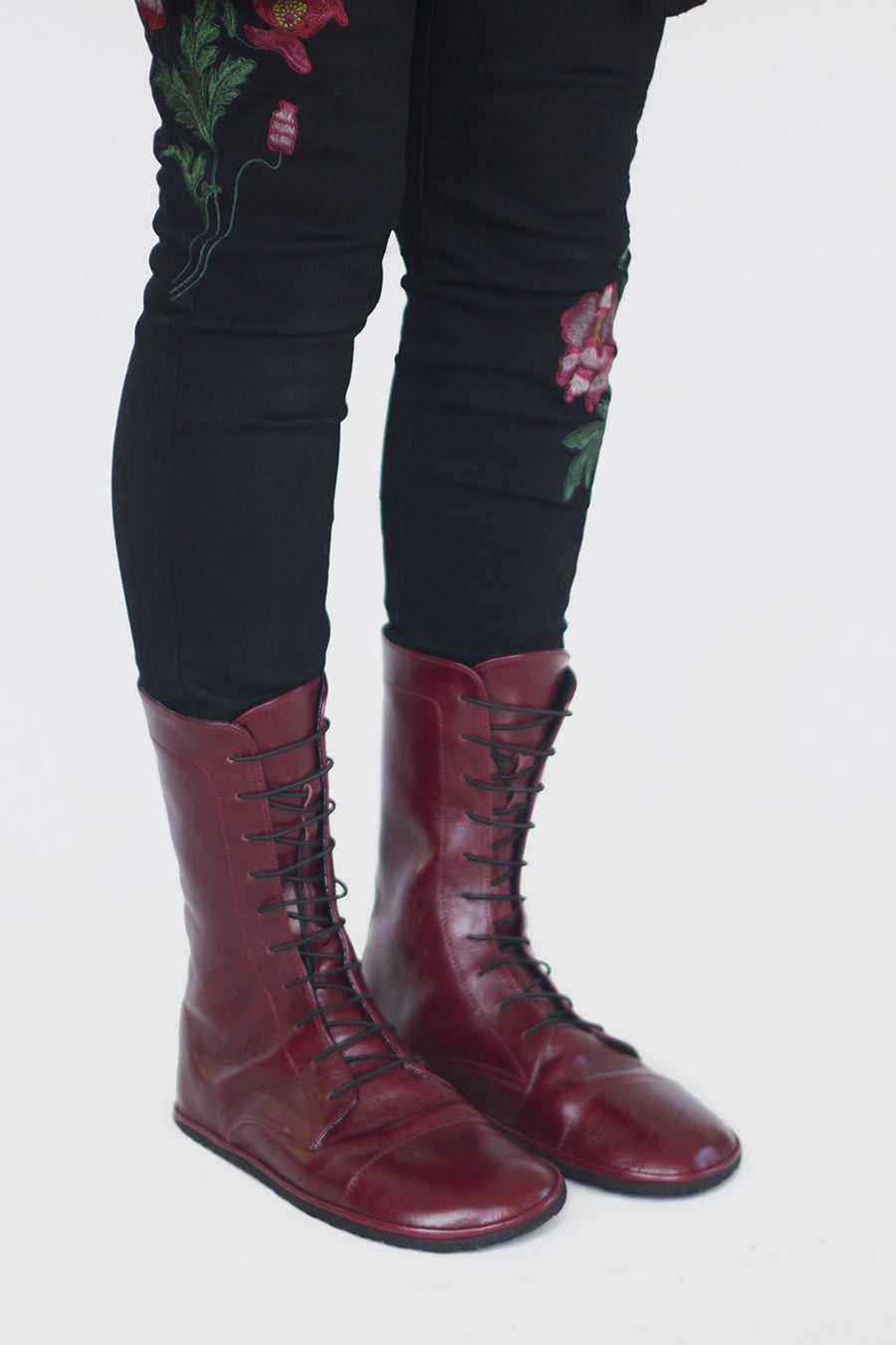 Image of Lace up boots - Impulse in Oxblood