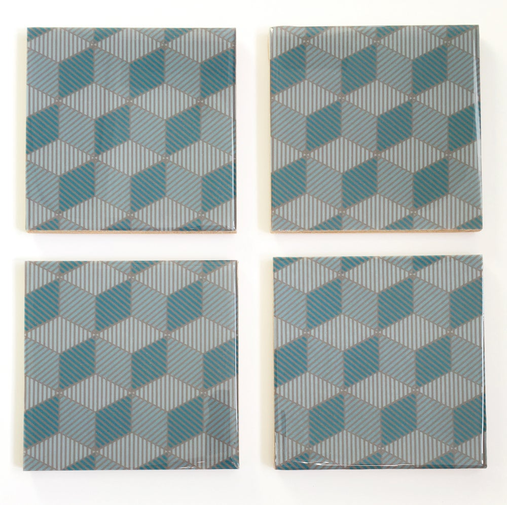 Image of Blue Icon Coasters