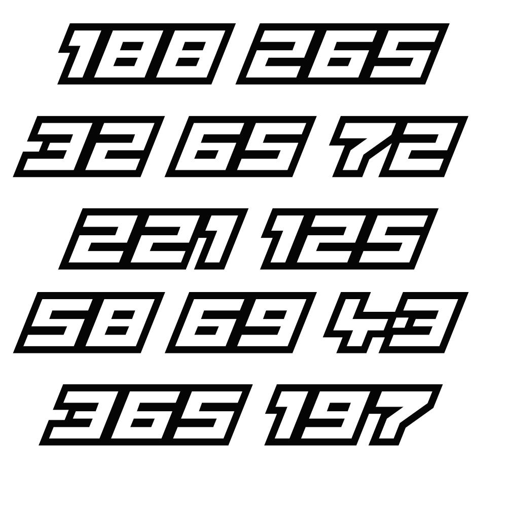 Image of Custom Vinyl Numbers