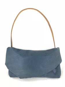Image of deconstructed shoulder bag (demin blue)