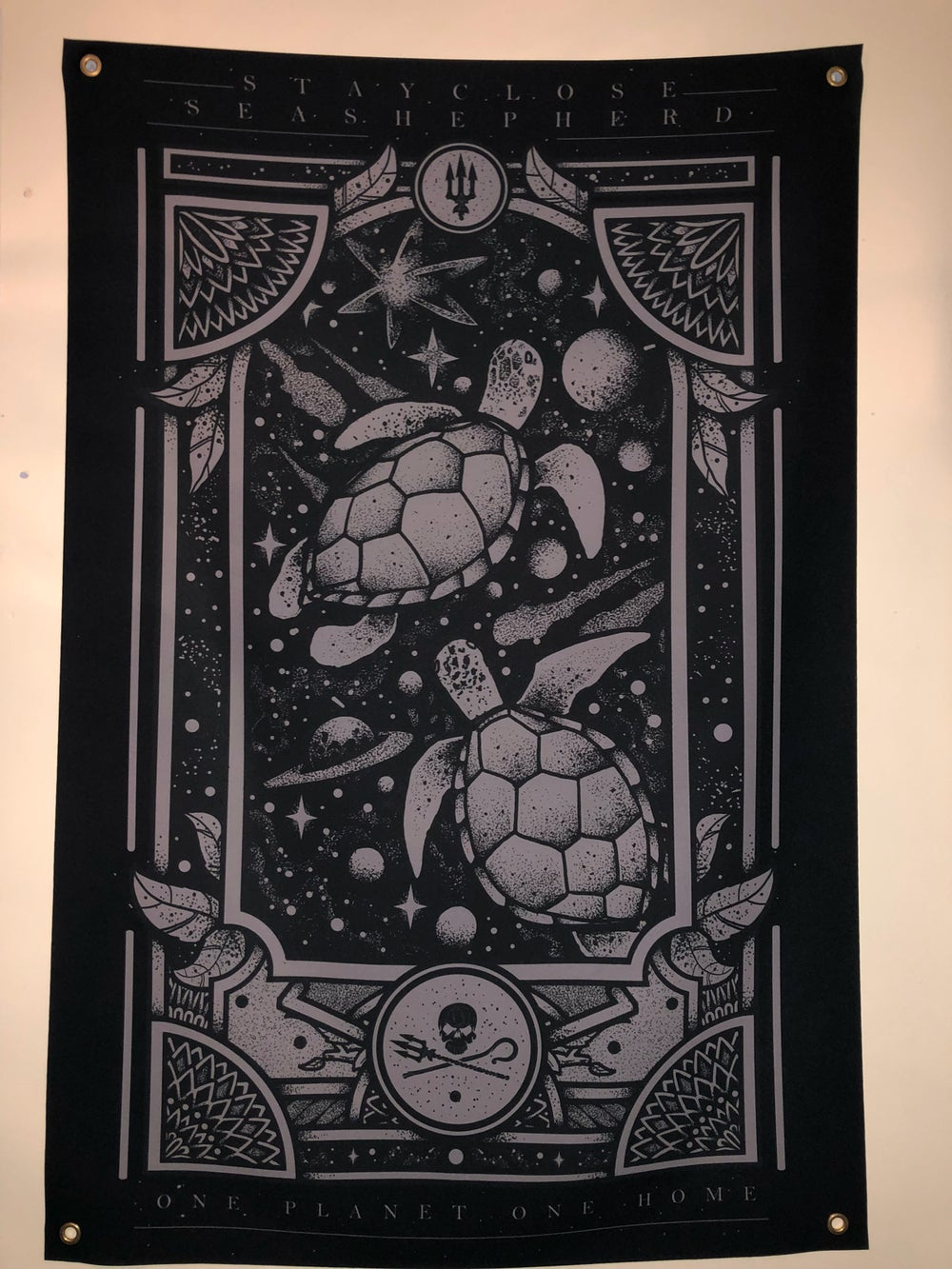 Image of Turtle wall flag