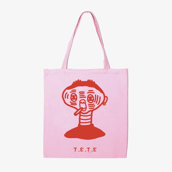 Image of TETE pink tote bag. By La Mandanga.