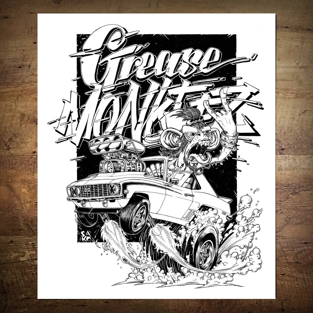 Image of Grease Monkeez Poster