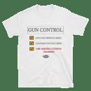 Image 1 of GUN CONTROL WHITE T