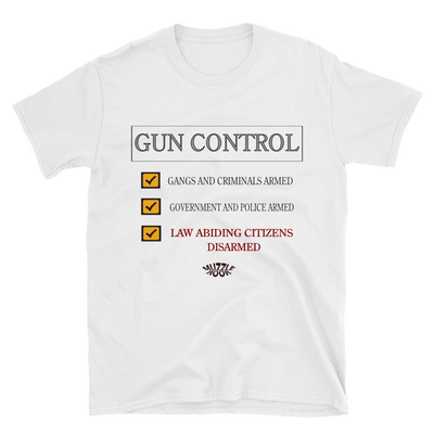 Image of GUN CONTROL WHITE T