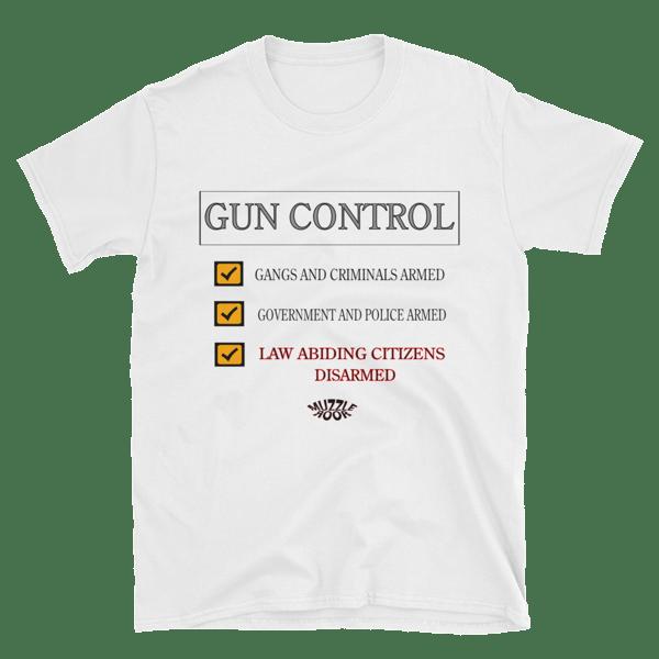 Image of GUN CONTROL WHITE T