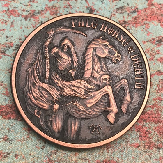 Image of Pale Horse of Death 1oz Copper Challenge Coin