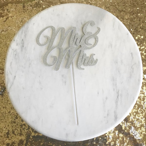 Image of Mr & Mrs Cake Topper