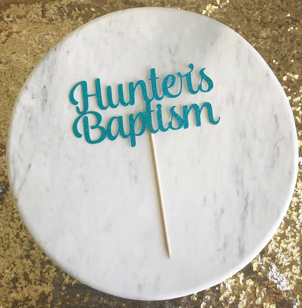 Image of Baptism Cake Topper