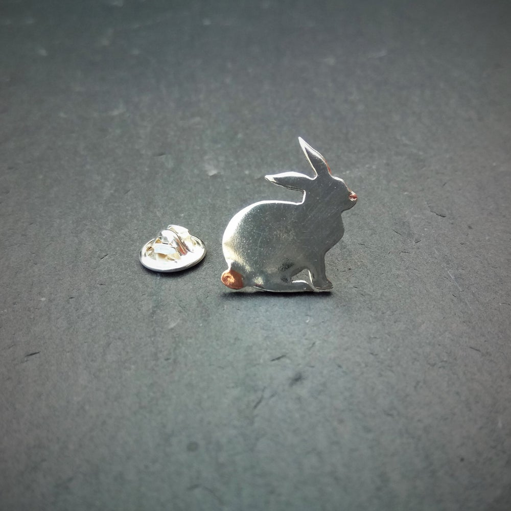 Image of Tiny rabbit lapel tack