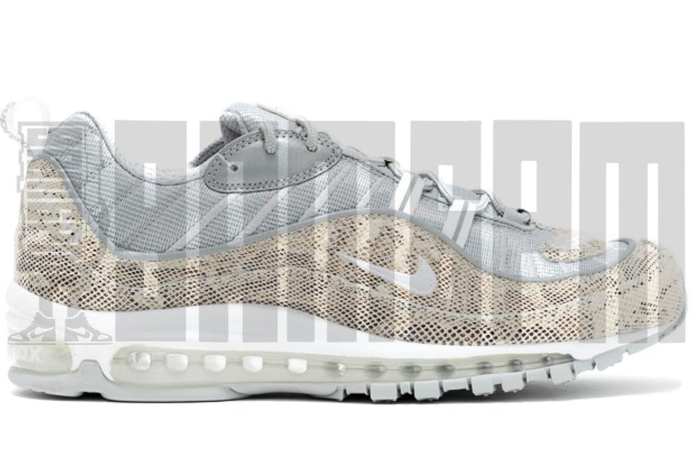 "Image of Nike AIR MAX 98 ""SUPREME SNAKESKIN"""