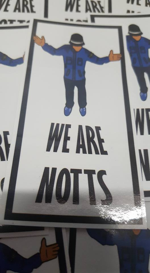 We are Notts, Notts County 10x5cm 25 pack of Football Ultras/casuals Stickers.