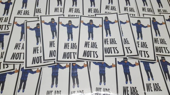 Image of We are Notts, Notts County 10x5cm 25 pack of Football Ultras/casuals Stickers.