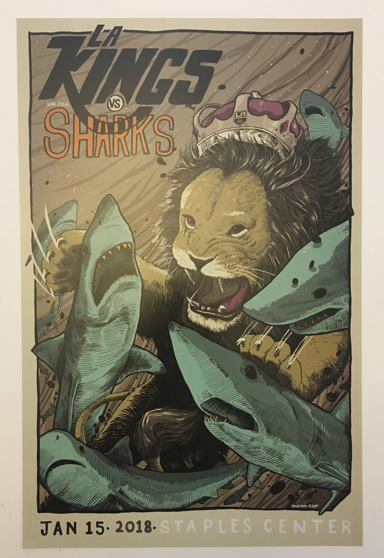 Image of 1.15.18 LA Kings / Sharks Poster