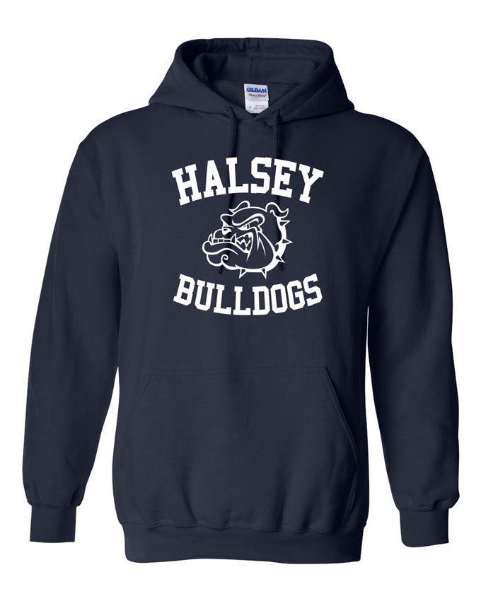 Image of HALSEY BULLDOGS HOODIE SWEATSHIRT NAVY