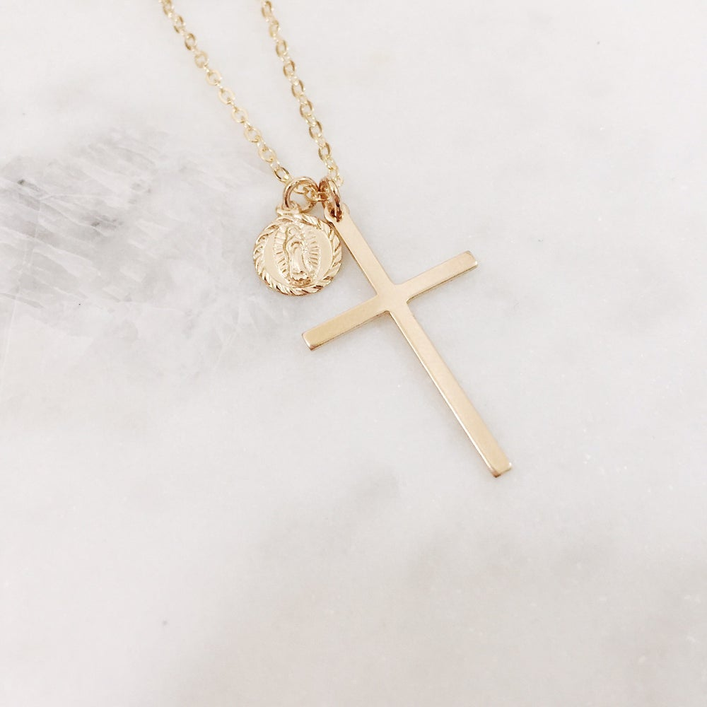 Image of Large Cross Necklace