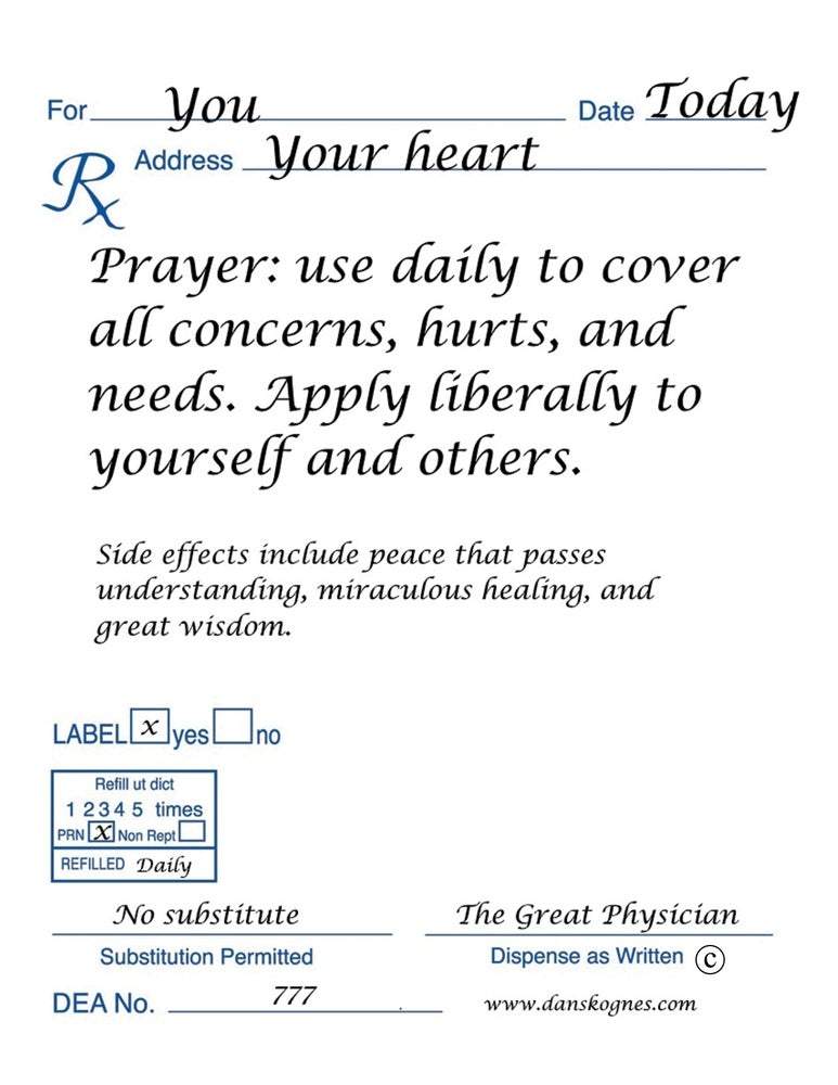 Image of Prayer Prescription - Set of 10 Magnets