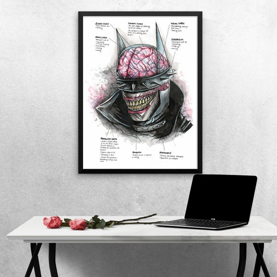 Image of Neuroscience of The Batman Who Laughs - Art Print