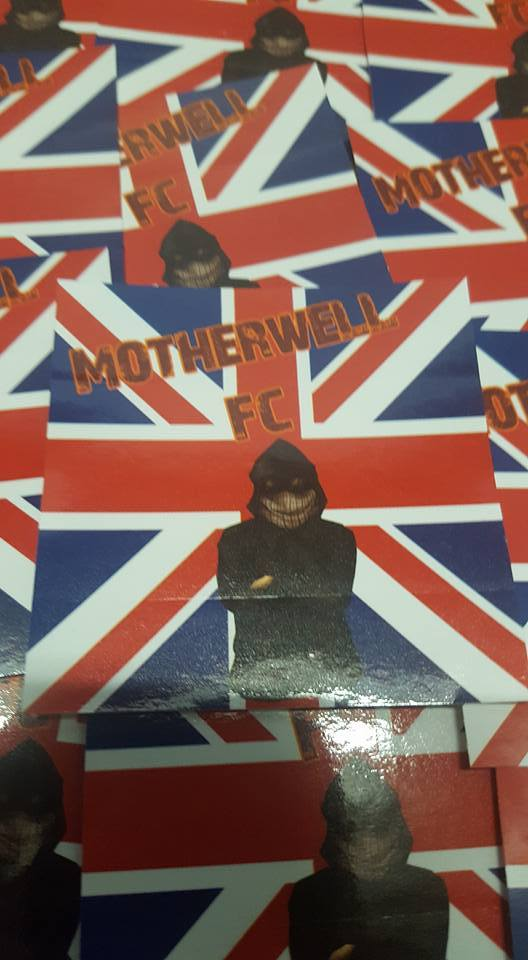 Image of Motherwell FC 25 pack of Football Ultras/casuals Stickers. Britain, Scotland.