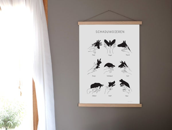 Image of ΔRT PRINT SCHΔDUWDIEREN incl. wooden frame