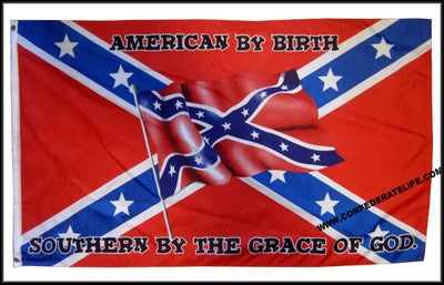 Image of American By Birth 3'x5' Confederate Flag