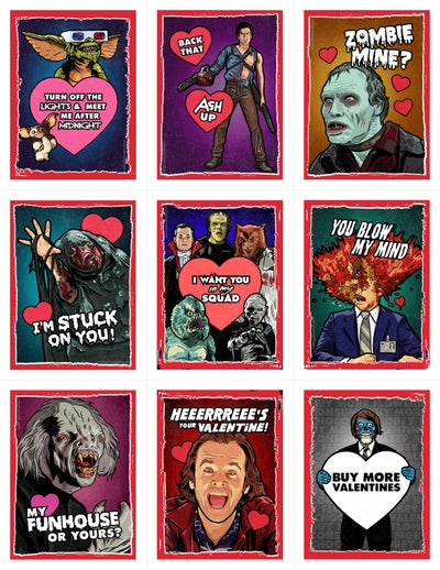Image of 80's Horror Valentine's Day Card Pack (2018)