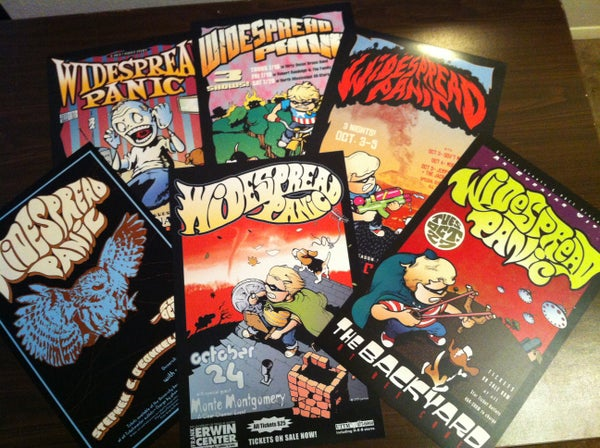 Image of Widespread Panic - Set of 6 offset prints, 1999-2003