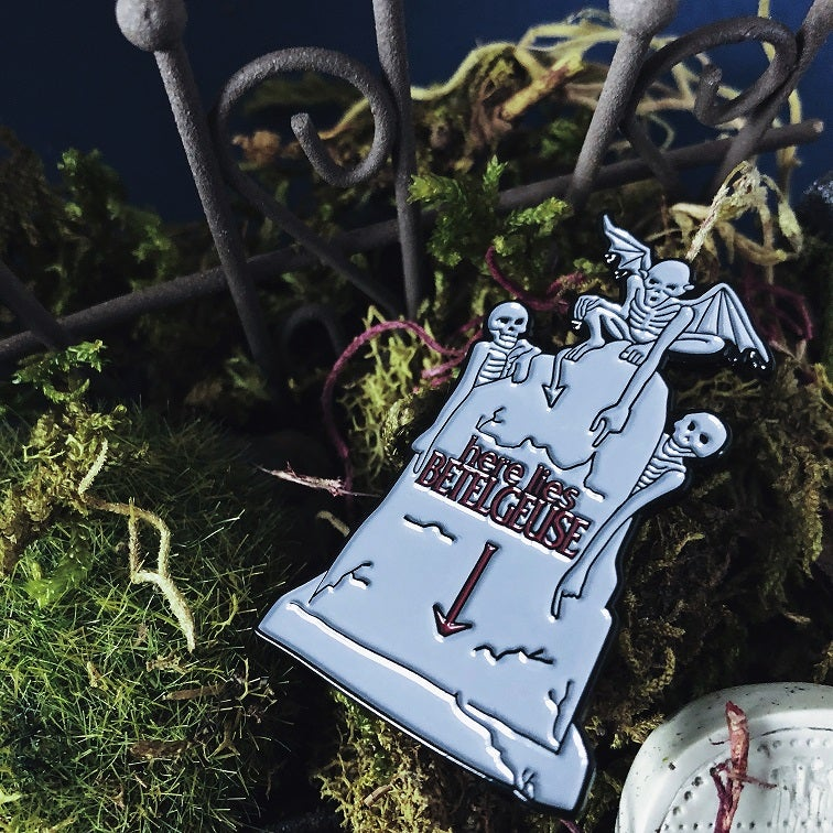 Image of BEETLE BREAKFAST Enamel Pin - Cinema Cemetery Collection
