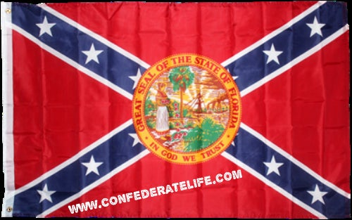 Image of Florida Confederate Flag 3'x5'