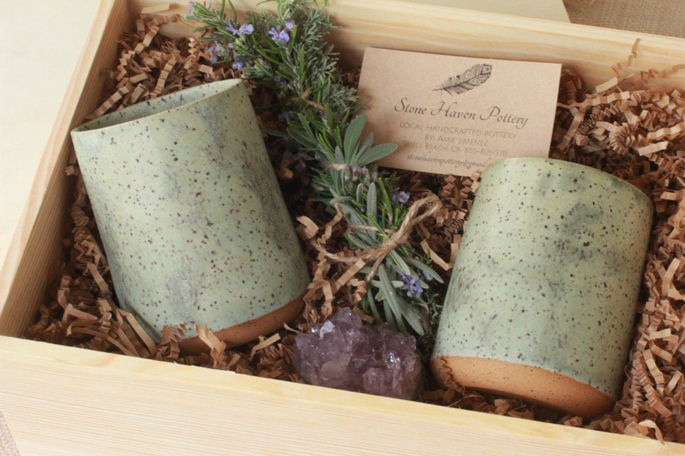Image of Speckled Turquoise Tumbler gift box set