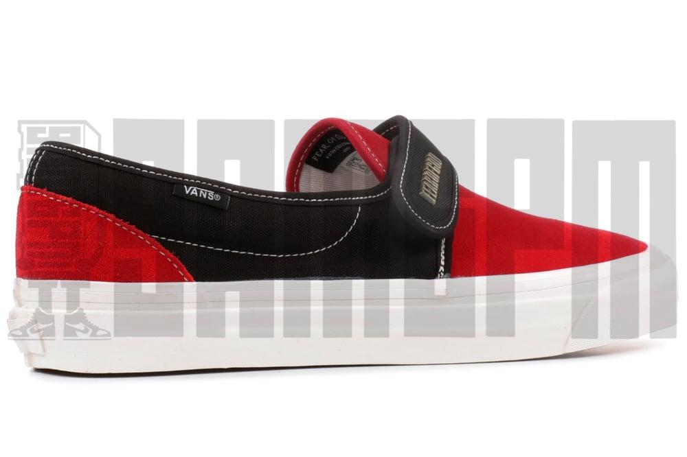 """Image of Vans SLIP-ON 47 V DX """"FEAR OF GOD RED/BLACK"""""""