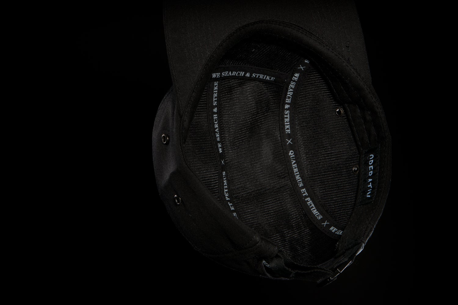 Image of S&S 5 PANEL HAT [ black ]