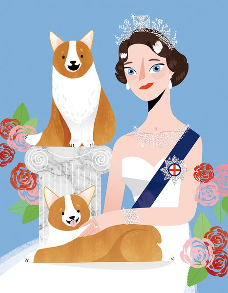 Image of Isabel II & Corgis