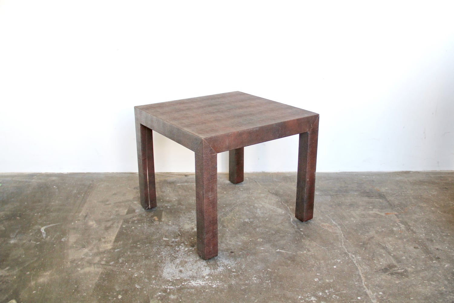 Small Snakeskin Parsons Table