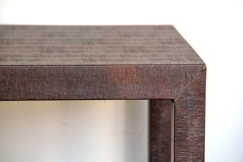 Image of Small Snakeskin Parsons Table