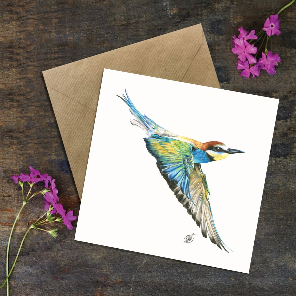 "Image of ""Bee-Eater"" Greeting Card"
