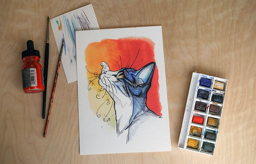 Image of Whimsy Whiskers - Art Print