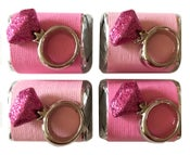 Image of Pink Bling Ring Chocolate Nuggets 4 pack