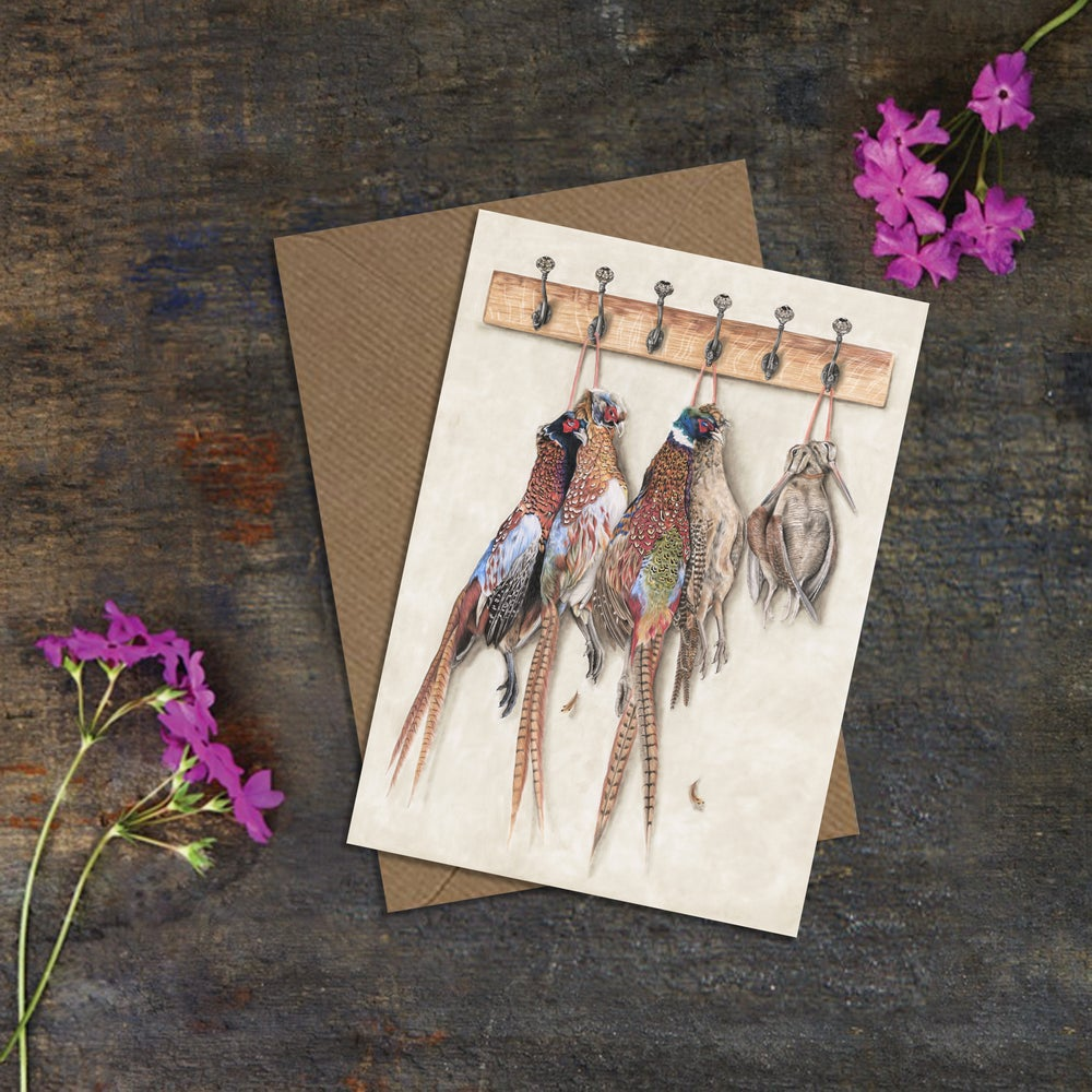 """Image of """"The Shooters Peg"""" Greeting Card"""