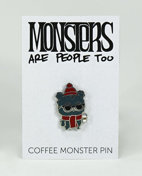 Image of Coffee Monster Enamel Pin
