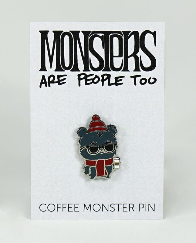 Image of Coffee Monster Enamel Pin