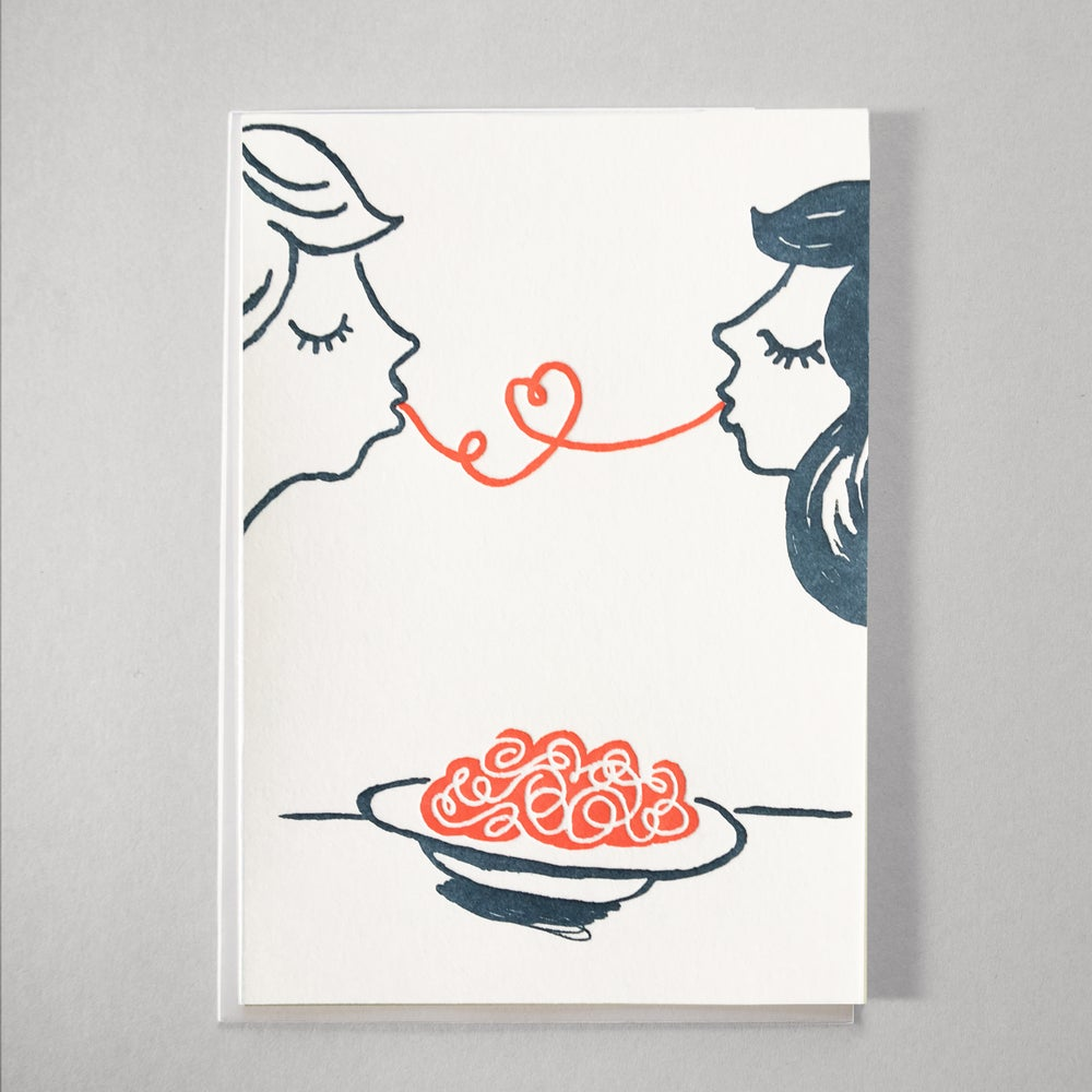 Image of Spaghetti Love - a perfect valentines, wedding congrats or love card