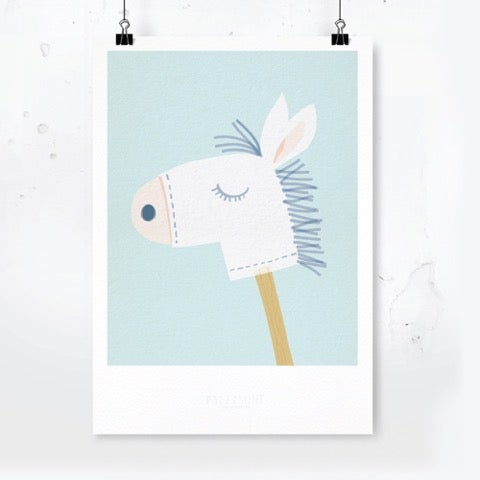 Image of Art Print Pony / Archival Quality / Kids' room decoration