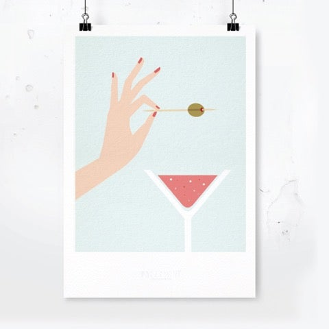 Image of Art Print Martini / Archival Quality
